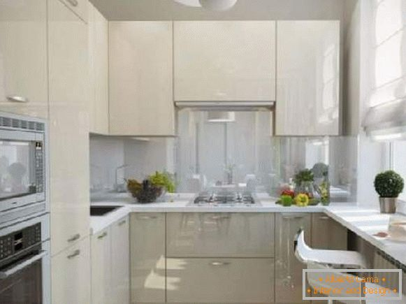 kitchen design 6 sq. m, photo 17