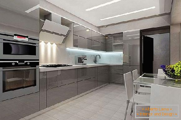 kitchen design in Khrushchev, photo 33