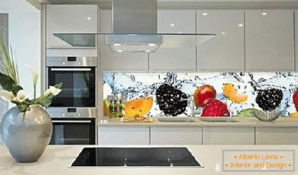 kitchen design in Khrushchev, photo 7