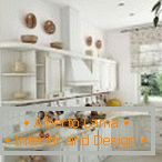 Kitchen in Provence style in the apartment