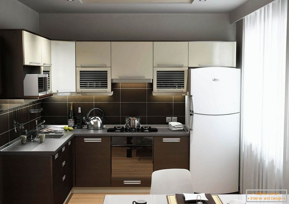 kitchen furniture with built-in fridge