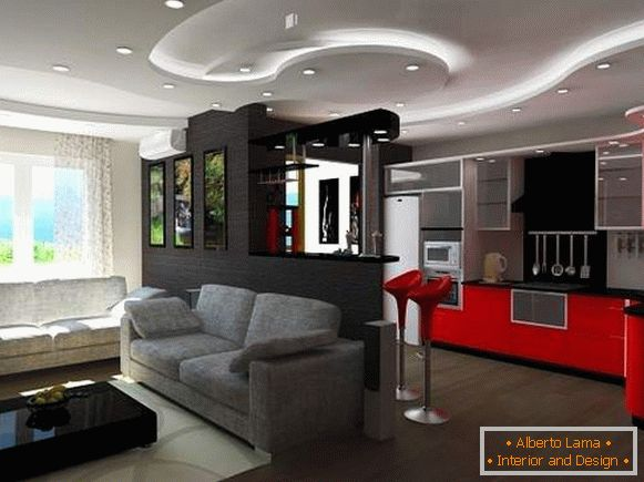 Design studio apartments in a modern style - photos of the best ideas