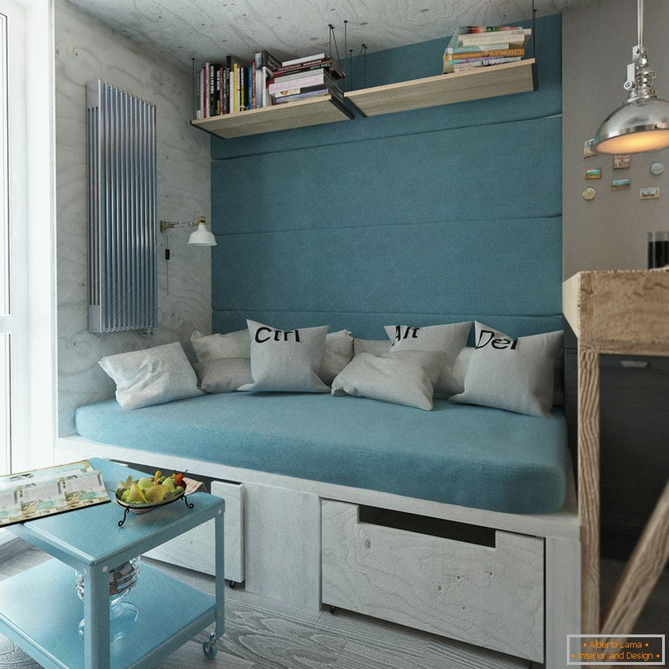 Turquoise in the design of the kitchen
