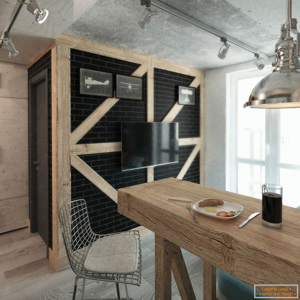 Kitchen interior in industrial style
