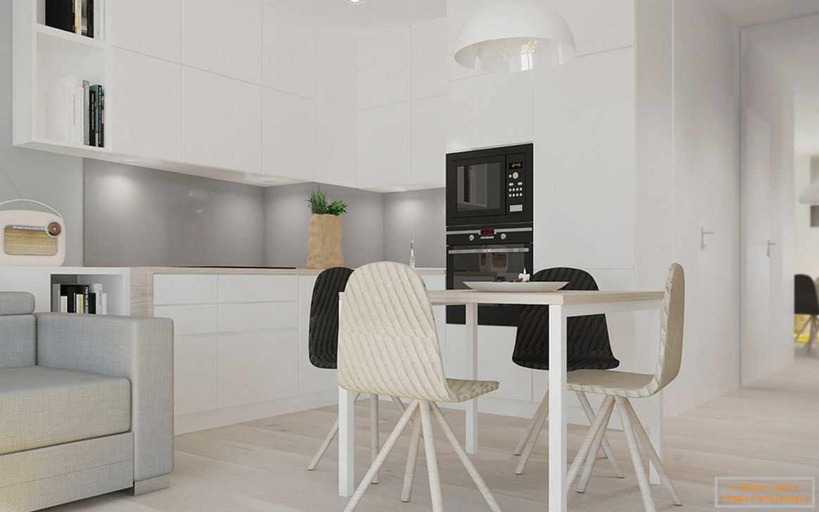 Kitchen corner in white color