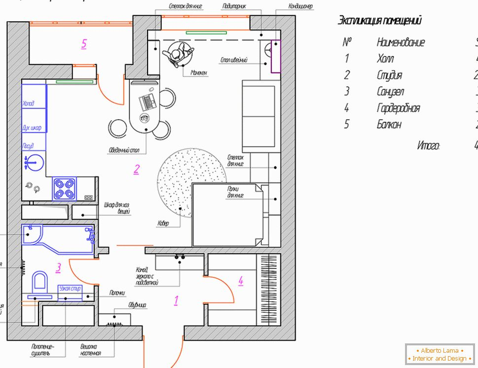 The layout of a small house