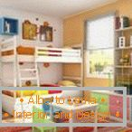 Multicolored furniture in the nursery