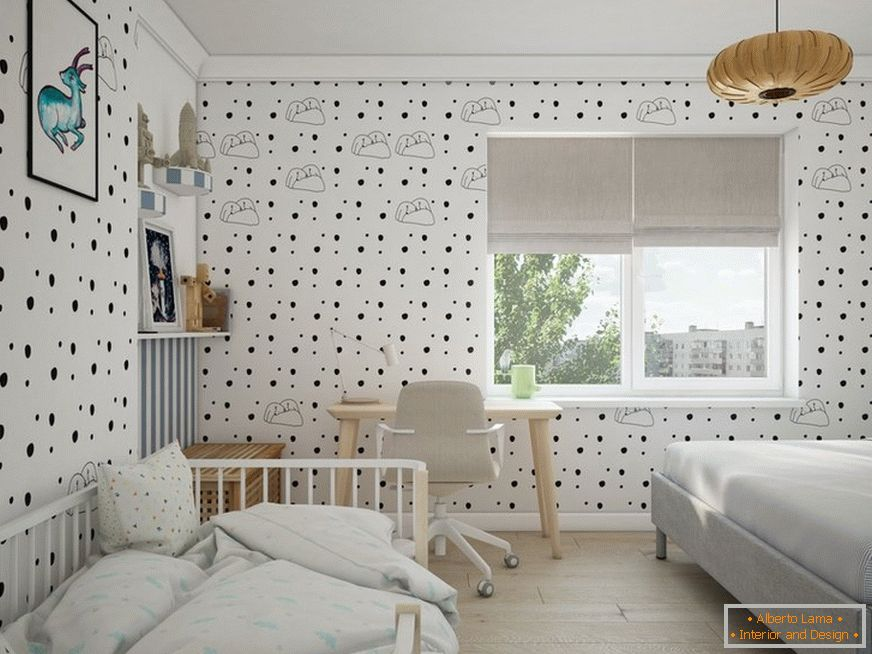 Elegant decor of a nursery
