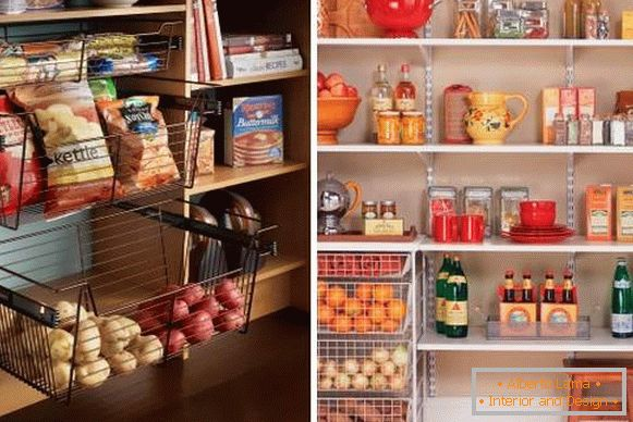How can a pantry be organized? - photo