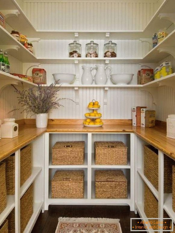 Beautiful pantry room in the house