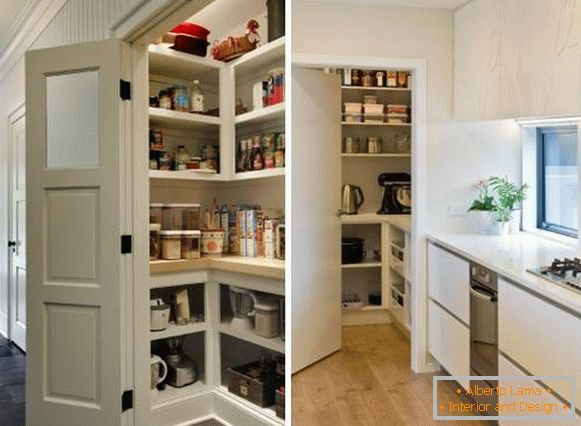 Small closet pantry in the corridor