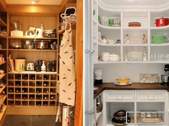 Built-in wardrobe in the pantry - photo interior