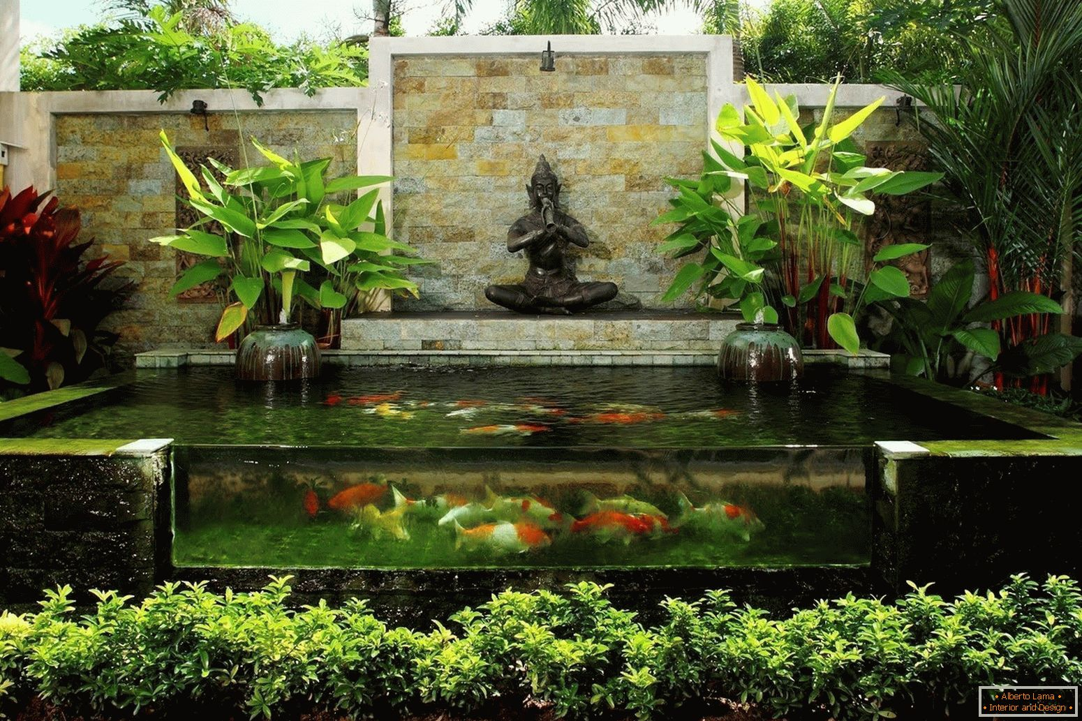 Pond in oriental style