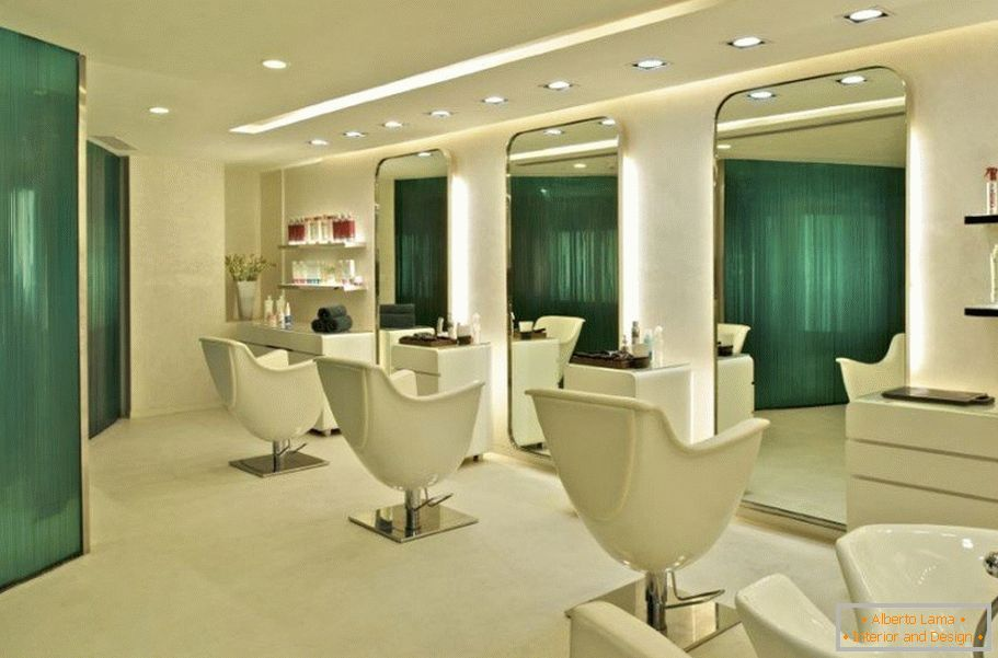 Working area in the beauty salon