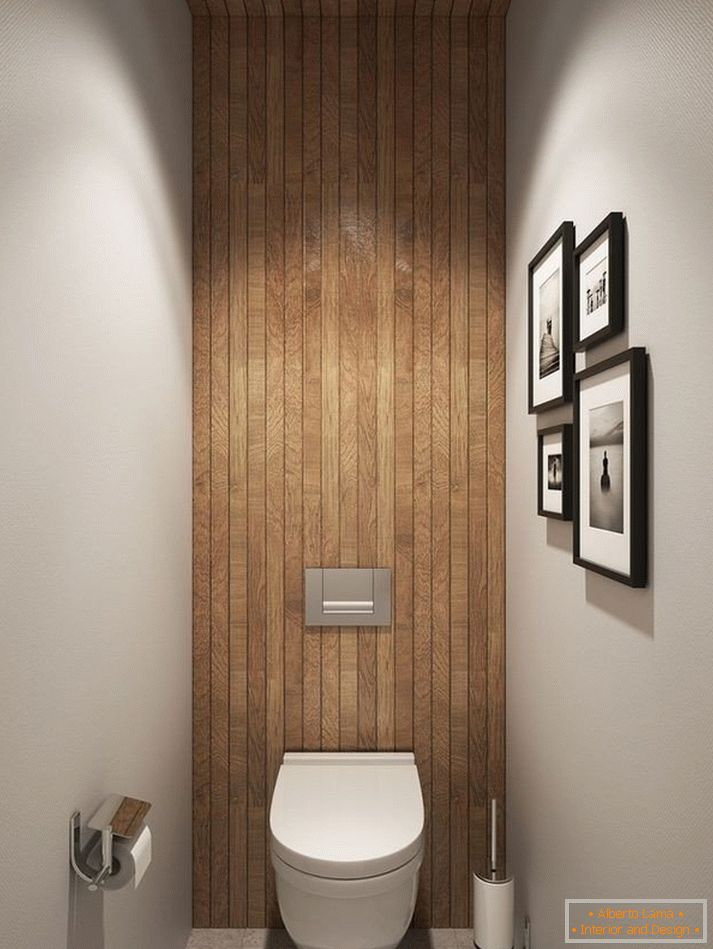A bathroom with a wooden ceiling and a wall