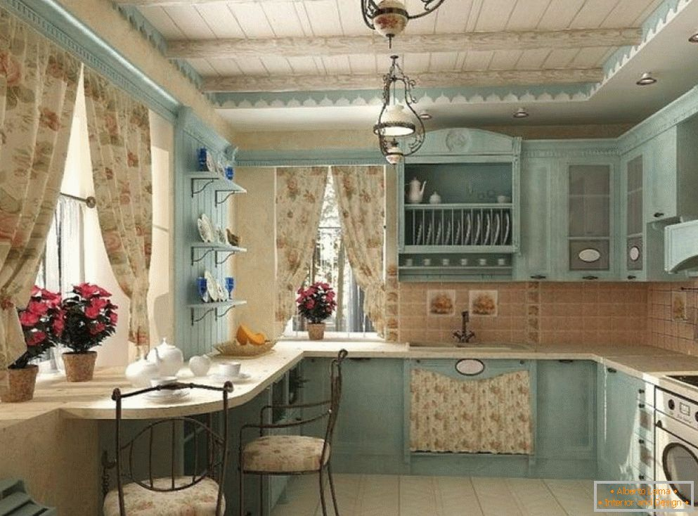 Kitchen interior in Provence style