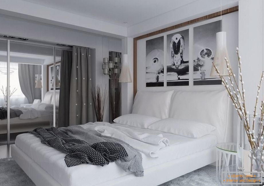 Accessories in the interior of the bedroom