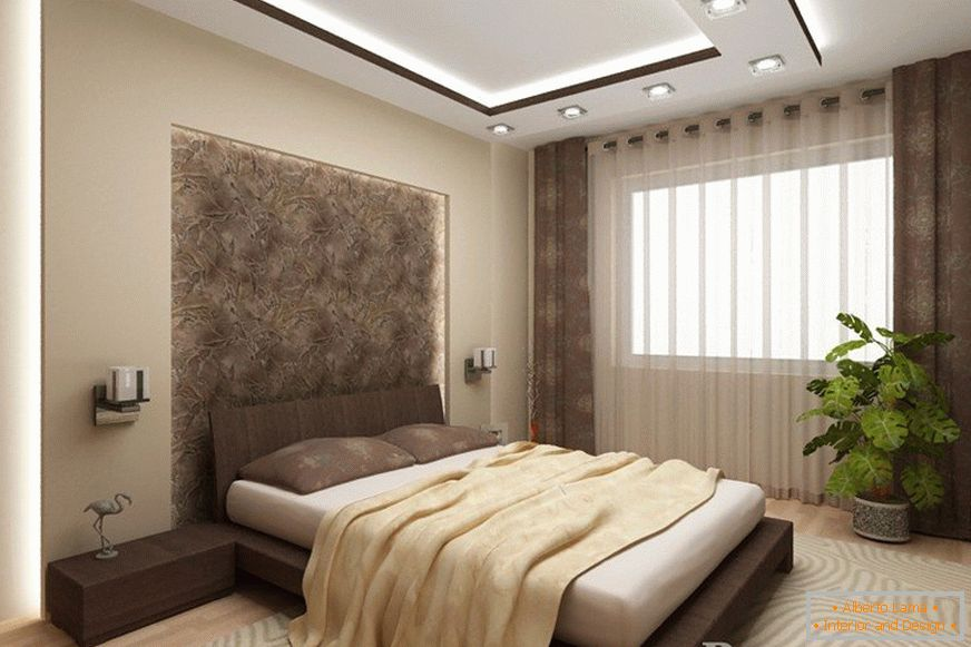 Bedroom design 12 sq. M