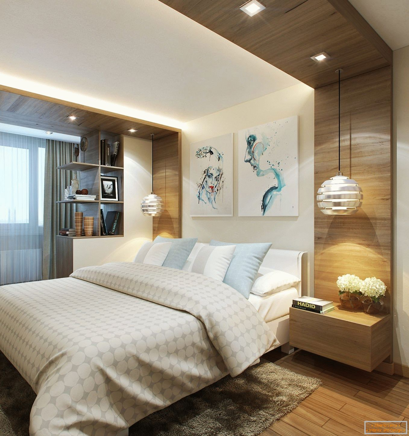 Bedroom combined with balcony