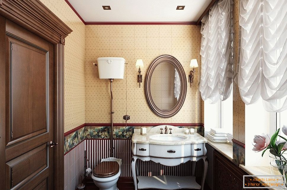 Bathroom interior in baroque style