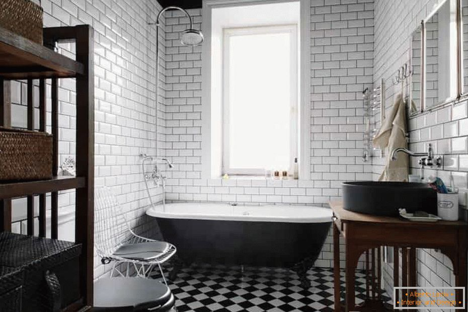 Bathroom in the tile