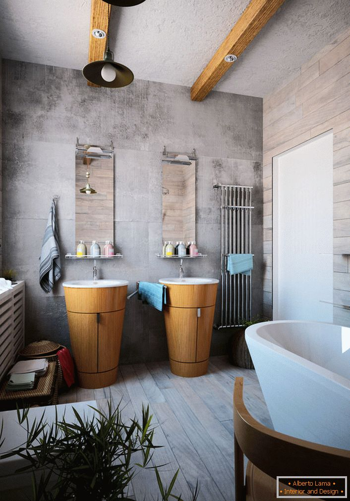 Bathroom in chalet style