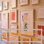 Children's drawings within the framework - ideal for children's decor