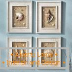 The idea of ​​a photo frame for the maritime style