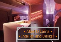 Futuristic saloon bar for Airbus from VW + BS and Virgin Atlantic