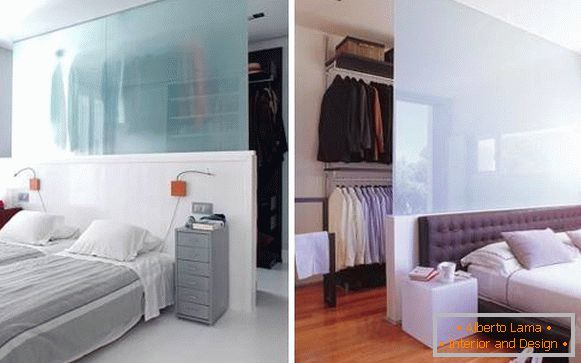 Built-in wardrobe in the bedroom - photos by yourself