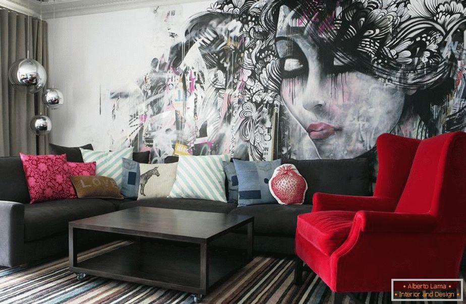 Graffiti in the living room