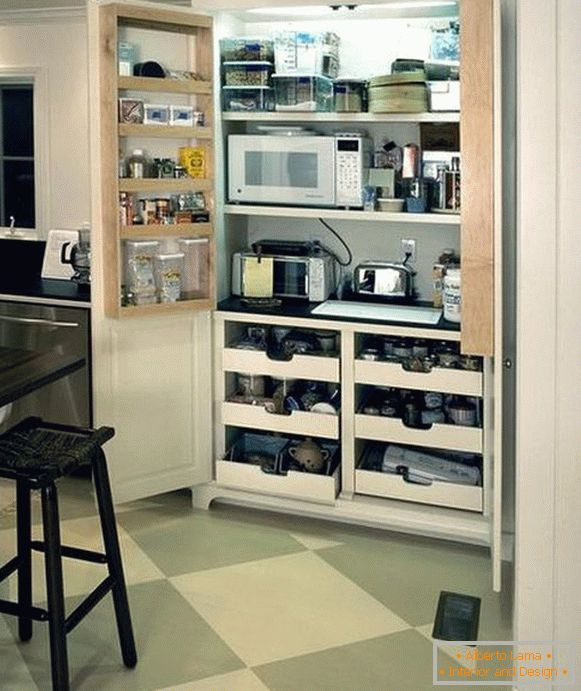 Microwave in the pantry