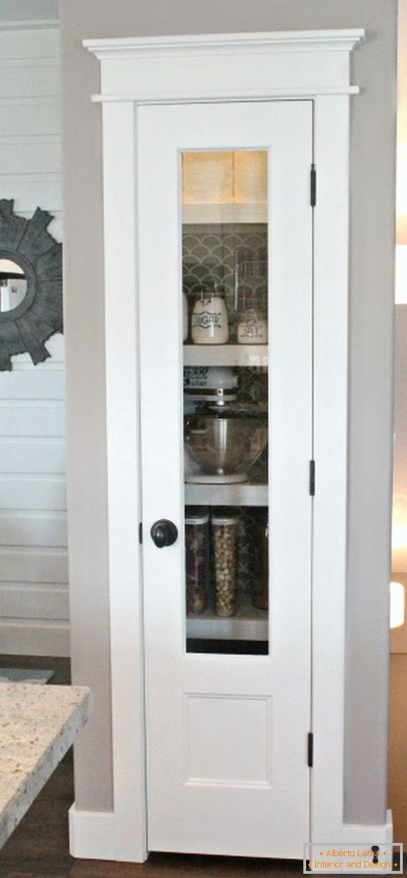 Storage room with glass door