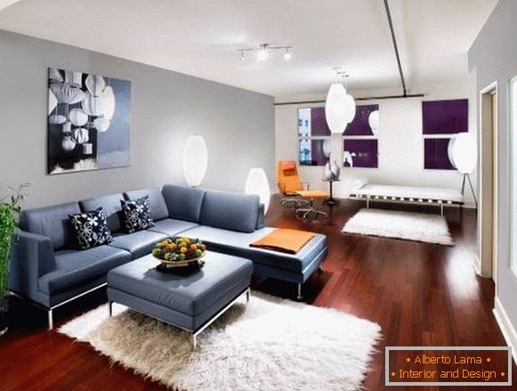 Design of the living room in a modern style