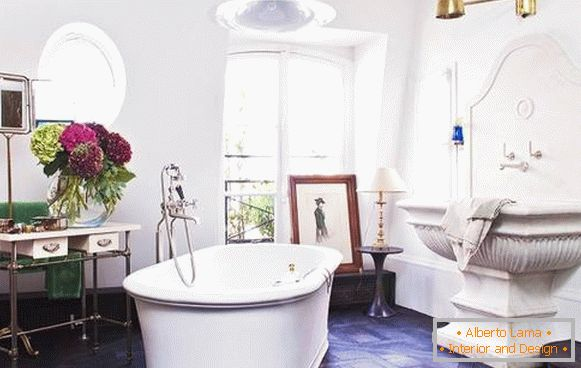 Decorating a bathroom in a traditional style