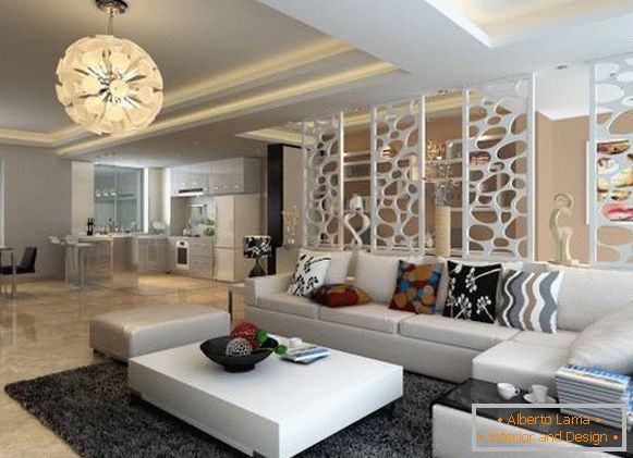 Apartment decoration with open plan