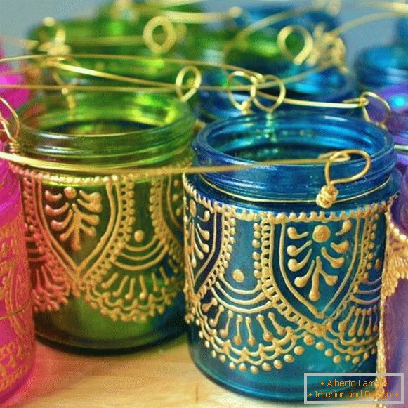 homemade-candlesticks-in-Moroccan-style