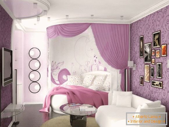 interior design of a children's room for a girl