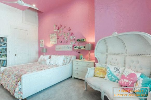 interior design of a children's room for a girl фото