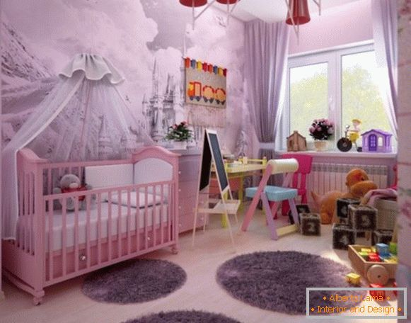 interior of a children's room for a girl 2 года