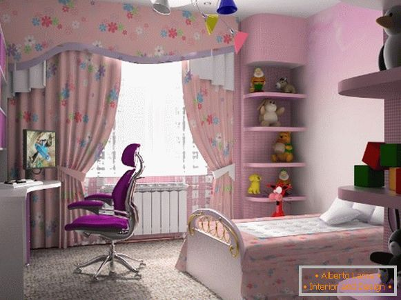 interior of a children's room for a girl 8 лет