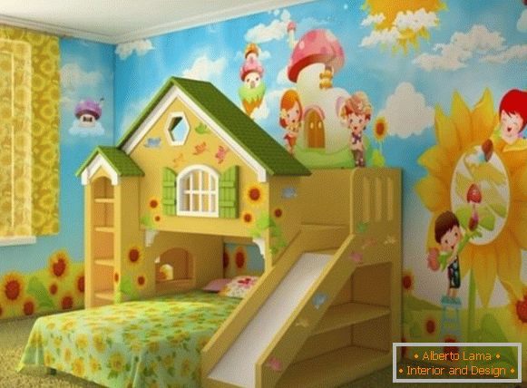 interior of a children's room for a girl 3 лет