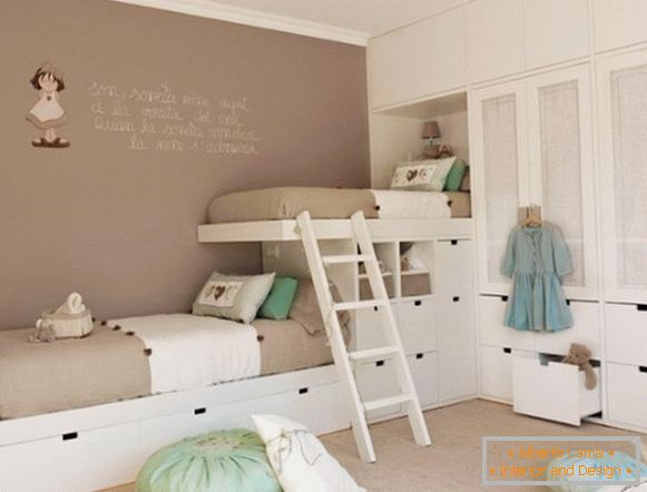 the interior of a children's room for girls of all ages