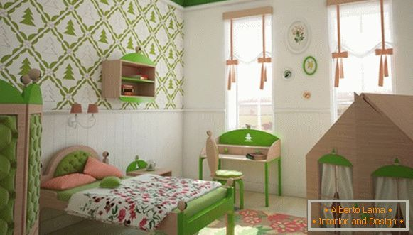 interior of a children's room for a girl в хрущёвке