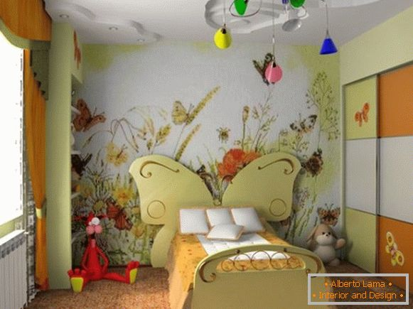 style interior decoration of the children's room for girls