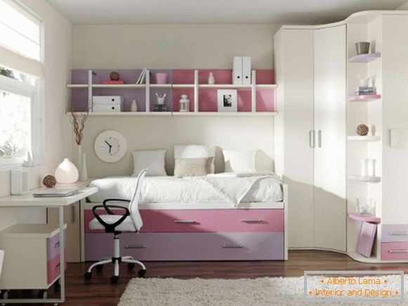 светлый interior of a children's room for a girl 7 лет