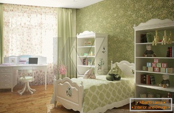 interior of a children's room for a girl 10