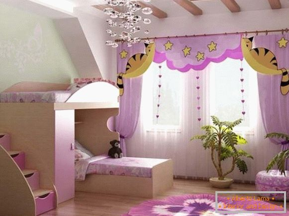 interior of a children's room for a girl 10 лет