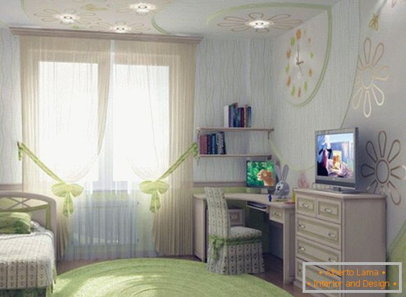 interior of a children's room for a girl 12