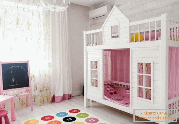 design of a children's room for a girl Photo interiors